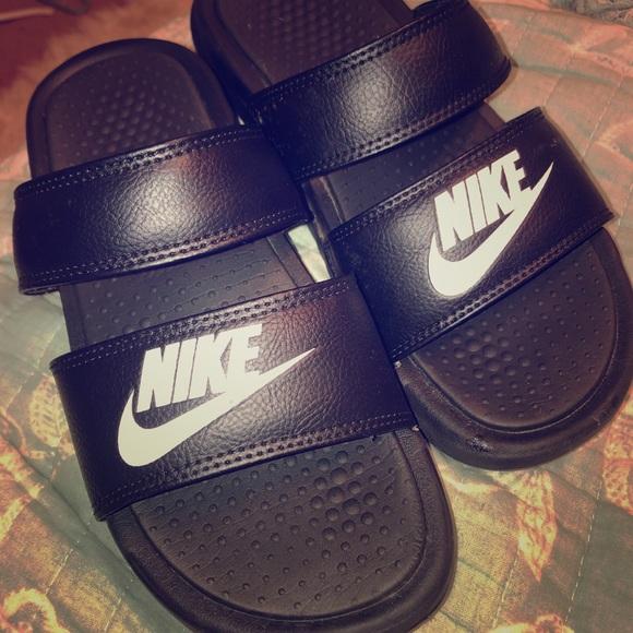 ... Nike Shoes Womens Double Strap Slides Poshmark d23b929f4